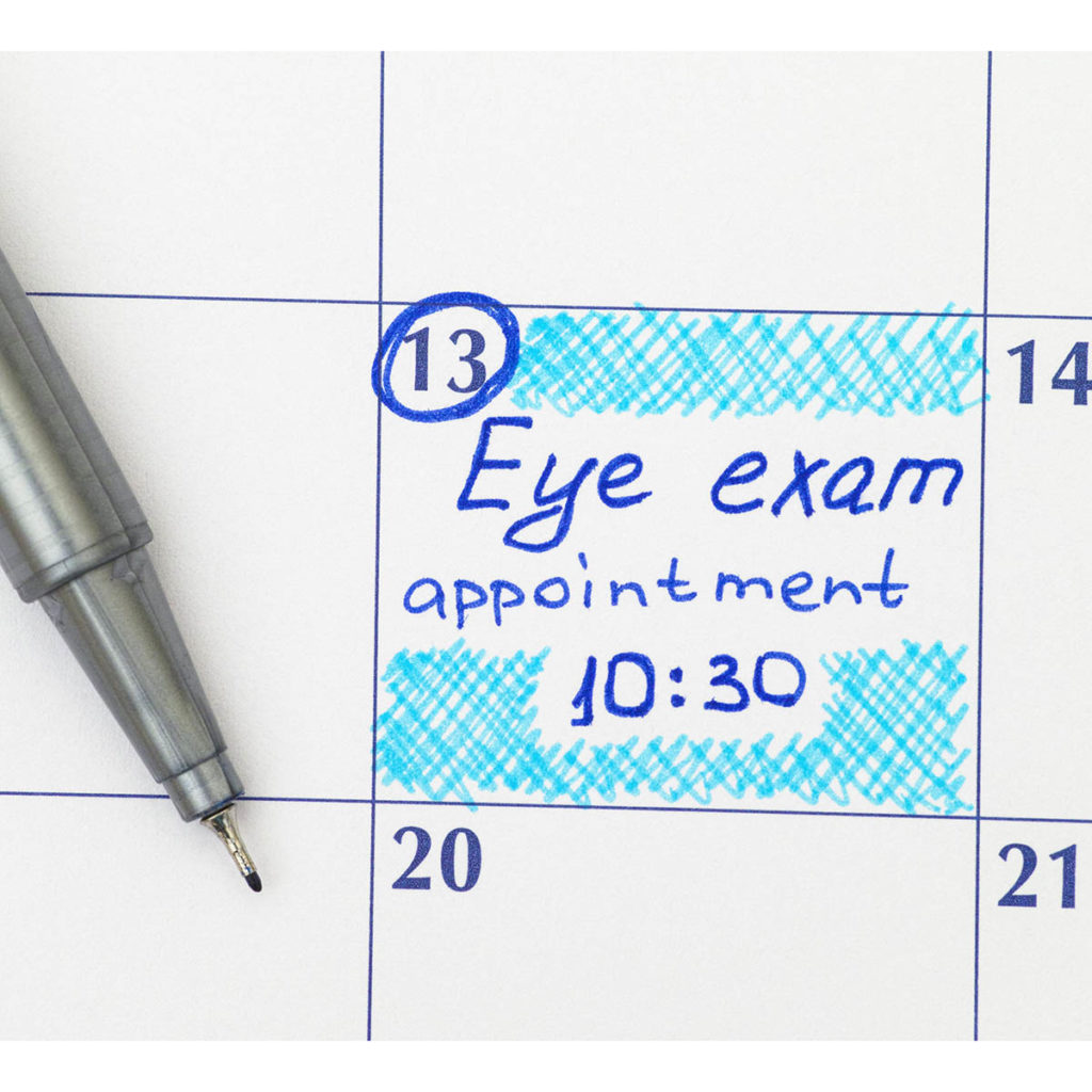 Eye Exam Appointment Reminder