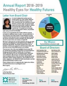 2018-2019 annual report cover